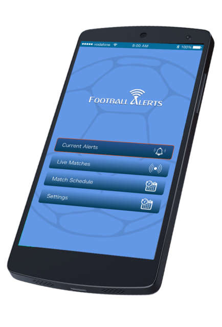 Football Alerts Application
